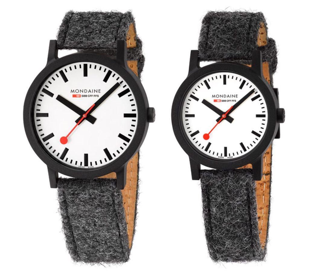 腕時計としては珍しい、フェルト生地のベルト